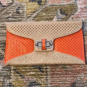Street Level Envelope Clutch, Chain Shoulder Strap